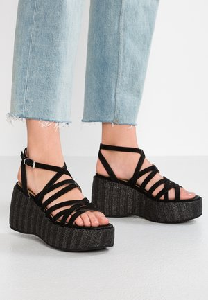 Sandály na vysokém podpatku - bella black