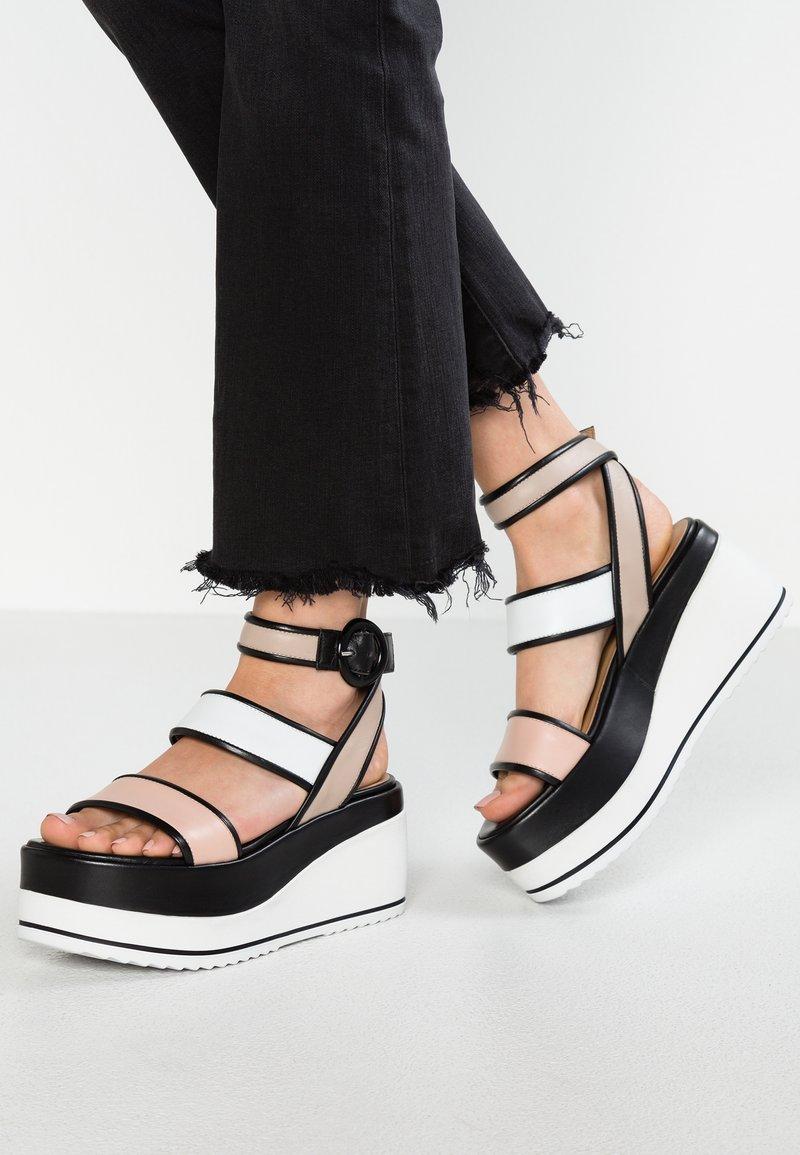 Janet Sport - Platform sandals - cleo cypria/bianco safari
