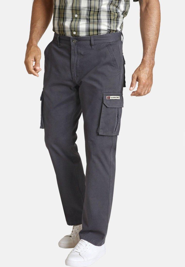 Jan Vanderstorm - STEEN - Cargo trousers - dark grey