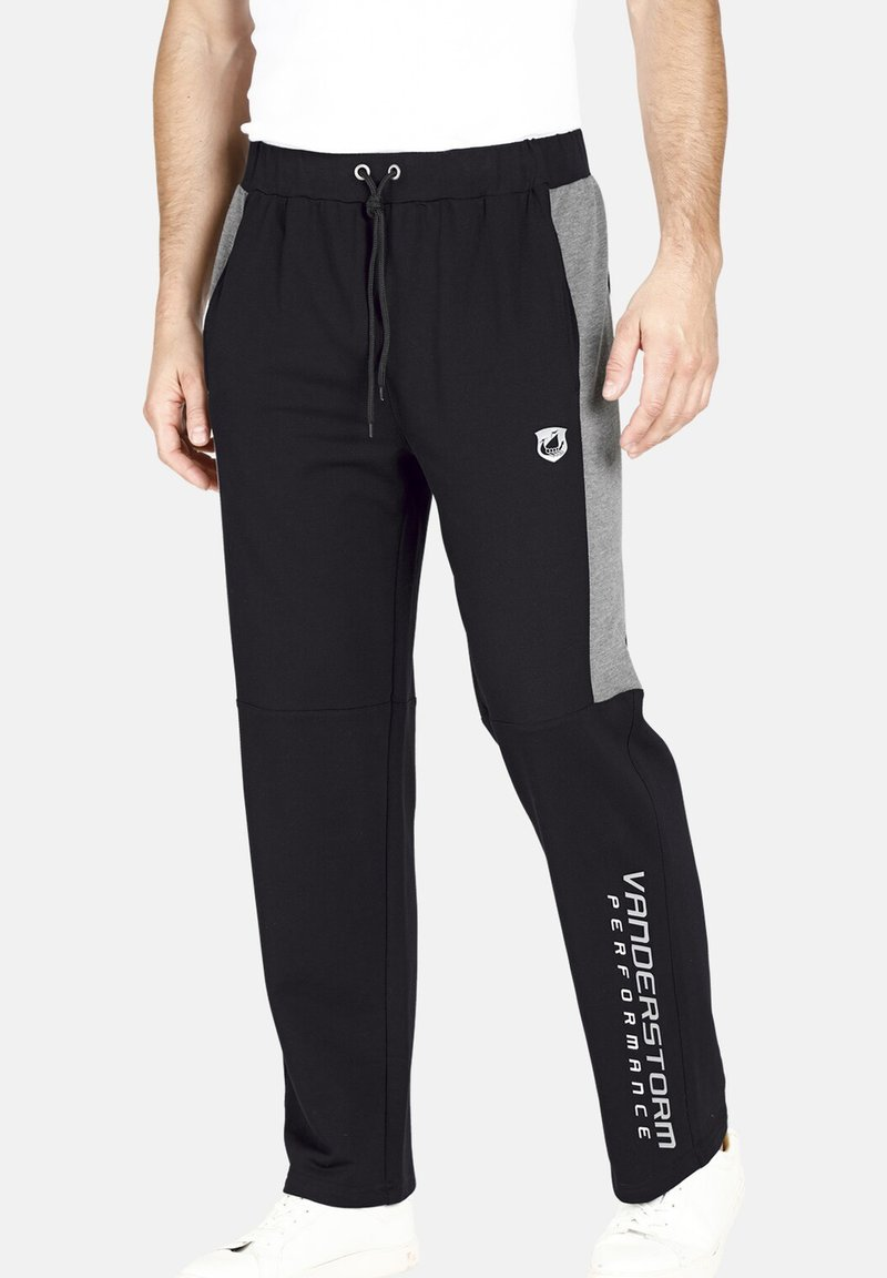 Jan Vanderstorm - VERNIK - Tracksuit bottoms - black
