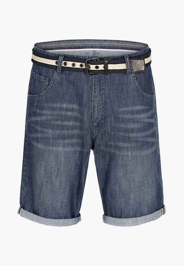 LENAS - Jeansshort - blue
