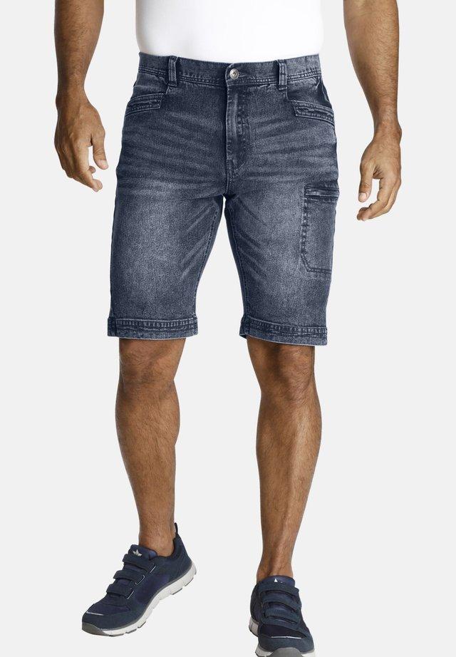 AKISTEG - Short en jean - blue