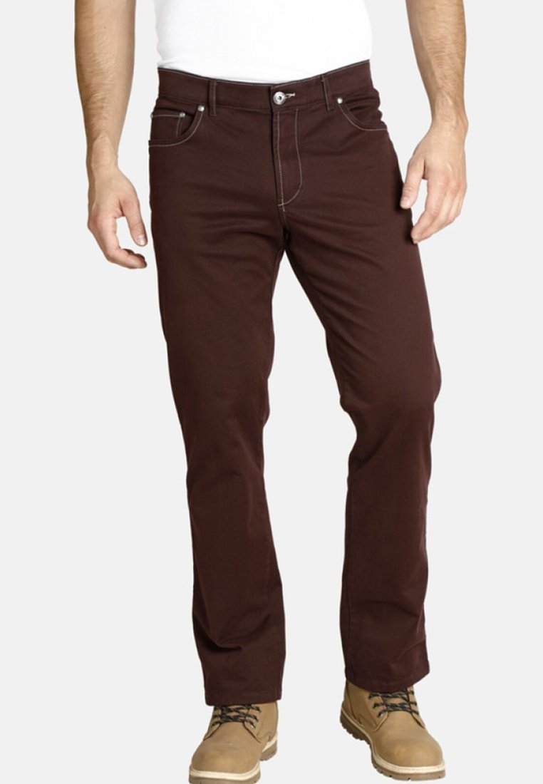 Jan Vanderstorm - Straight leg jeans - dark red