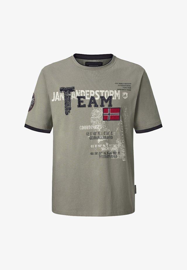 SÖLVE - T-shirt print - oliv