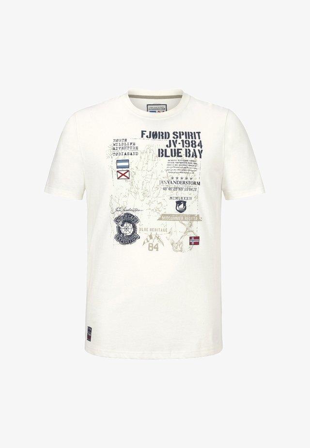 VALTERI - T-shirt imprimé - offwhite