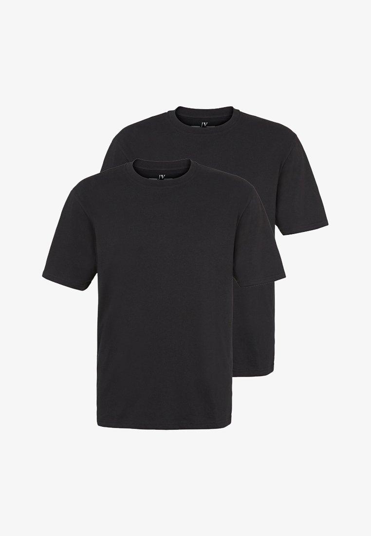 Jan Vanderstorm - ERKE 2PACK - Basic T-shirt - black