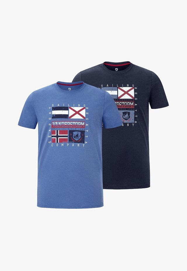 2 PACK - T-shirt imprimé - dark blue