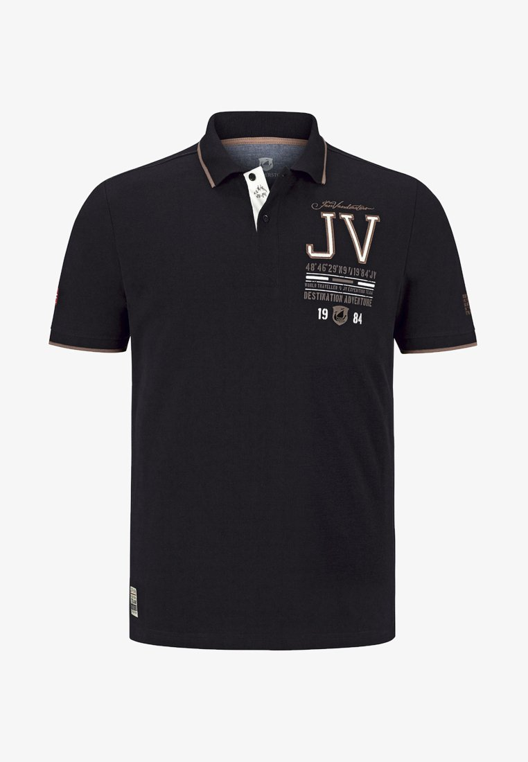 Jan Vanderstorm - VINNAN - Polo shirt - black