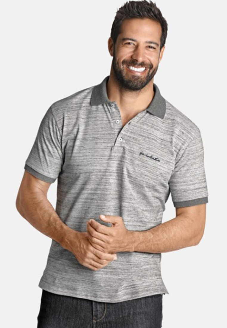 Jan Vanderstorm - EDFINN - Polo shirt - grey melange
