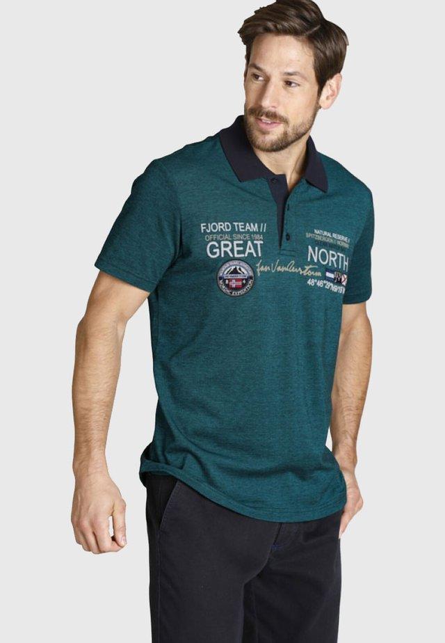 SIMO - Polo shirt - petrol melange