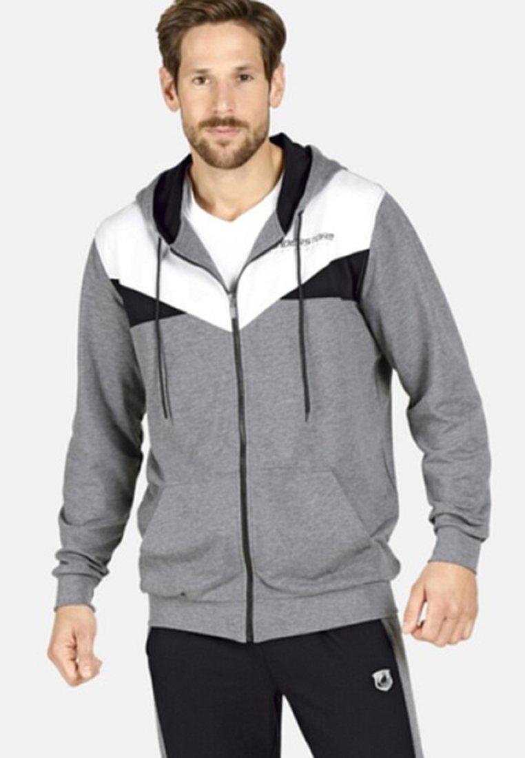 Jan Vanderstorm - VETTE - Zip-up hoodie - grey melange