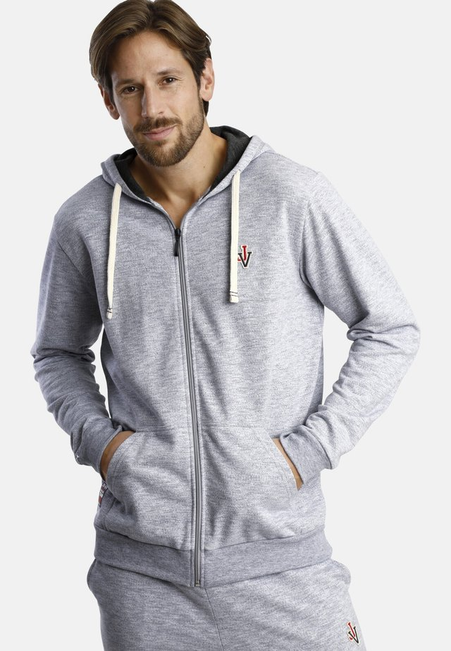 TROND - Zip-up hoodie - light grey melange