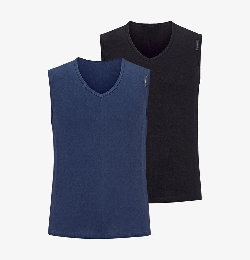 Jan Vanderstorm - 2 PACK EMILJAN - Unterhemd/-shirt - navy/black