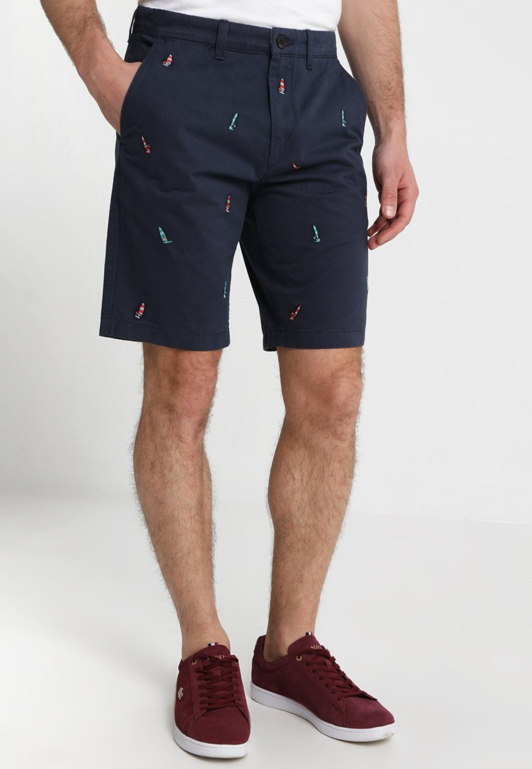 Jack Wills - WIDMORE EMBROIDERED ALL OVER ICON - Shorts - navy