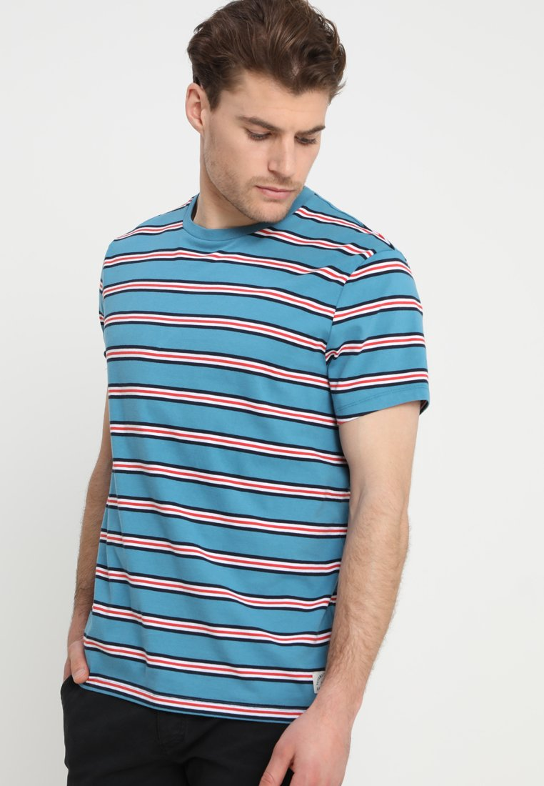 Jack Wills - DERVENE STRIPE - T-shirt con stampa - airforce blue