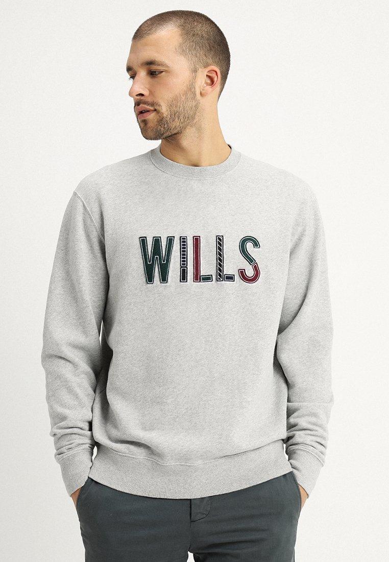 Jack Wills - BAGGALEY APPLIQUE CREW - Sweatshirt - ash