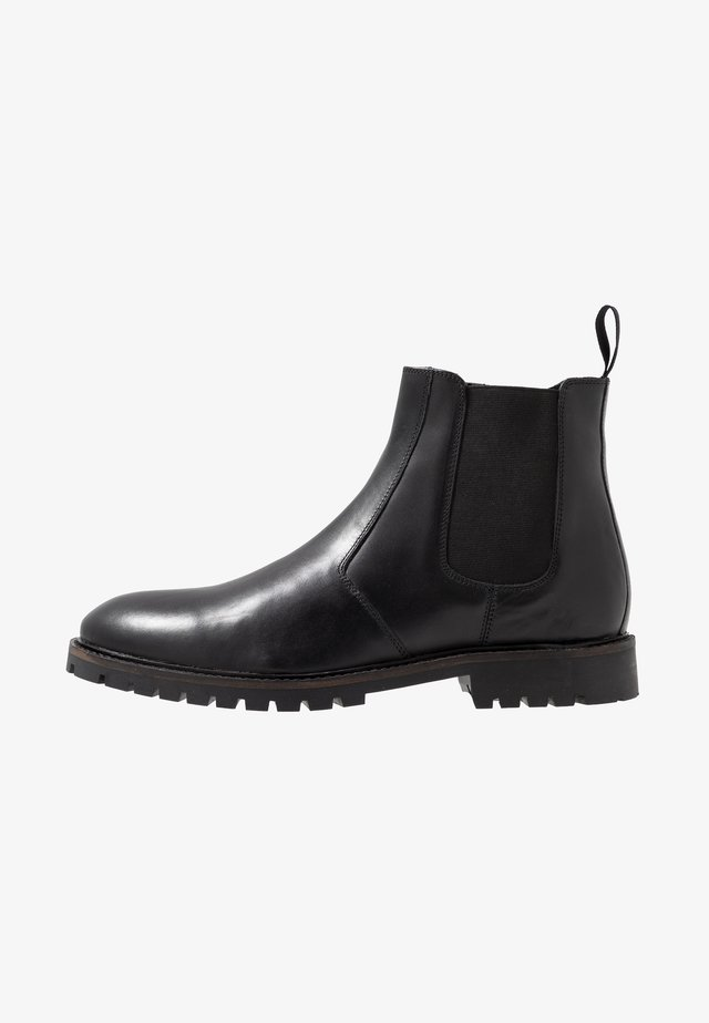 CHELSEA BOOT WITH INSIED ZIP - Korte laarzen - black