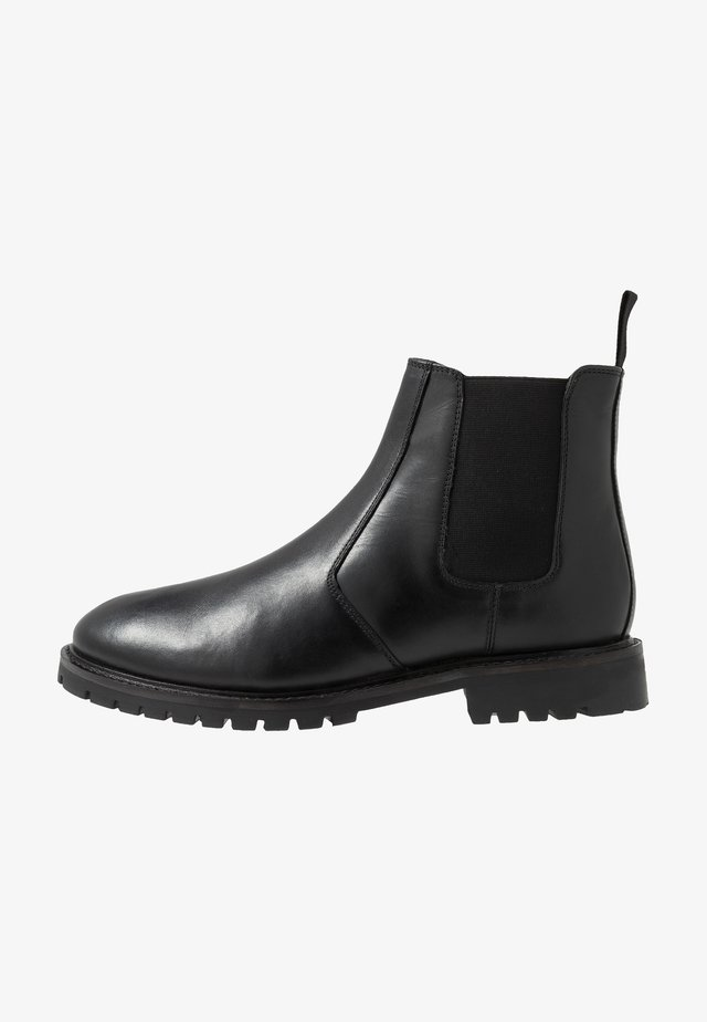 EXTRA WIDE CHELSEA BOOT WITH INSIED ZIP - Bottines - black
