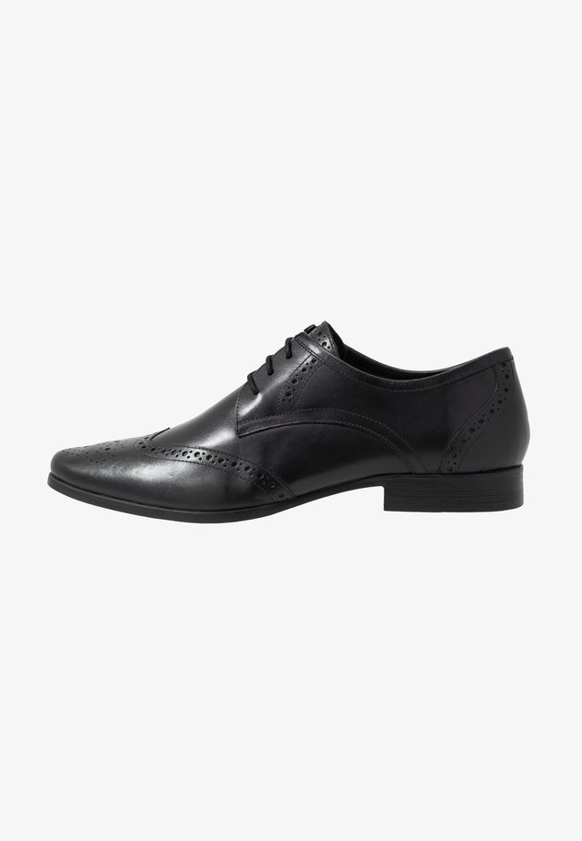 FORMAL BROGUE - Smart lace-ups - black