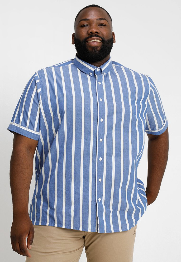 Jacamo - LABEL STRIPED - Camisa - blue