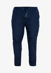 Jacamo - SIDE TAPE TROUSER PLUS SIZE - Tygbyxor - navy - 4