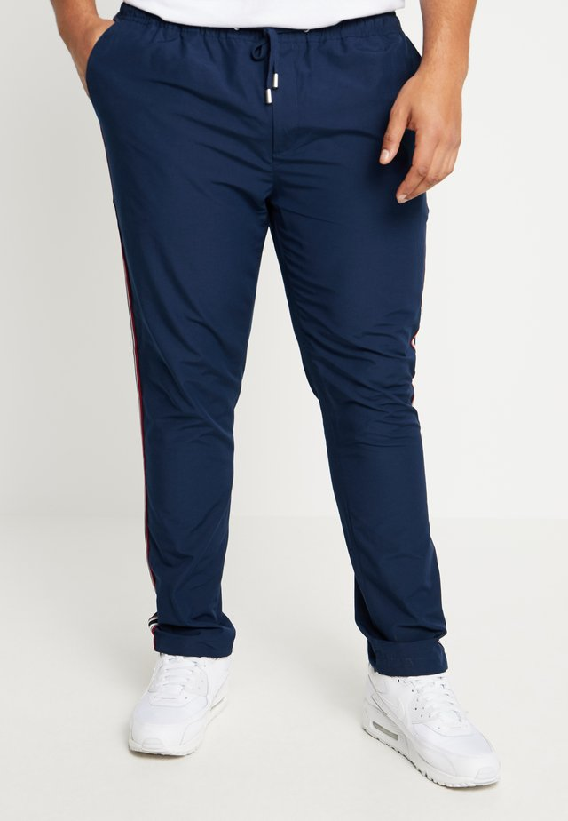 SIDE TAPE TROUSER PLUS SIZE - Stoffhose - navy