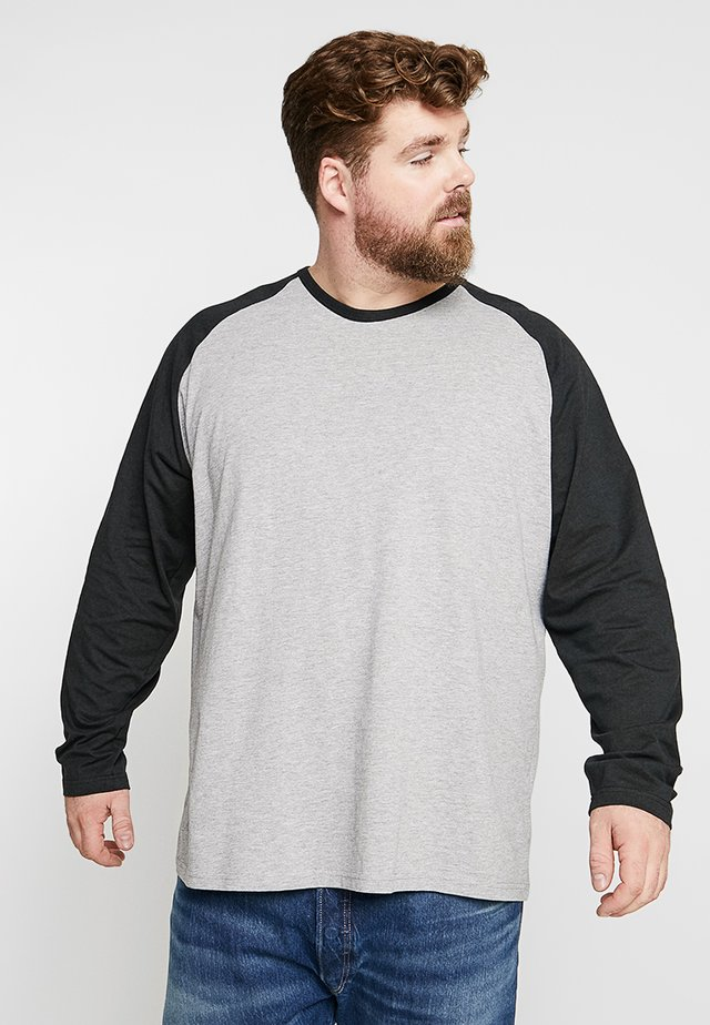 RAGLAN TEE - T-shirt à manches longues - grey/black