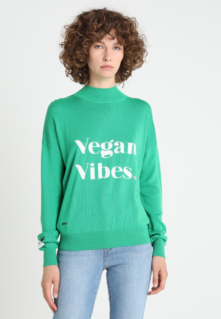 Jakke - FREE FROM INTARSIA VEGAN VIBES - Jumper - green