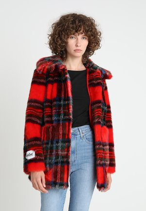 TAMMY PRINTED FAUX - Winterjas - red
