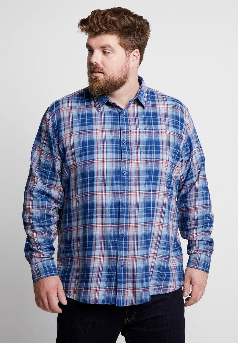 Jack´s Sportswear - CHECKED WASHED - Hemd - blue check