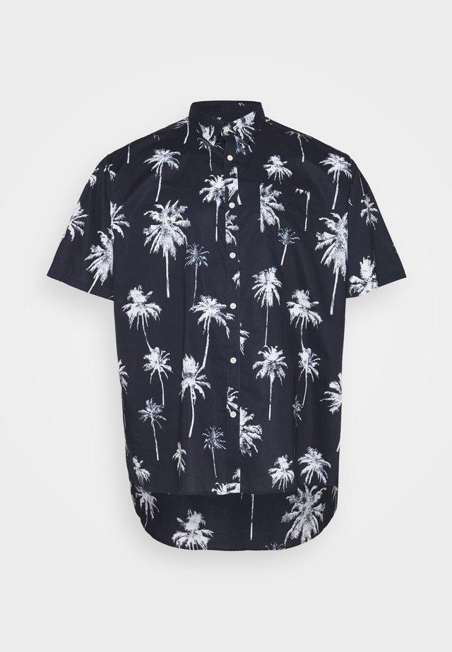 PALM PRINT - Skjorte - dunkelblau