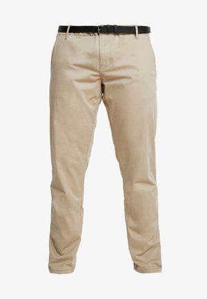 STRETCH WITH BELT - Chinos - sand