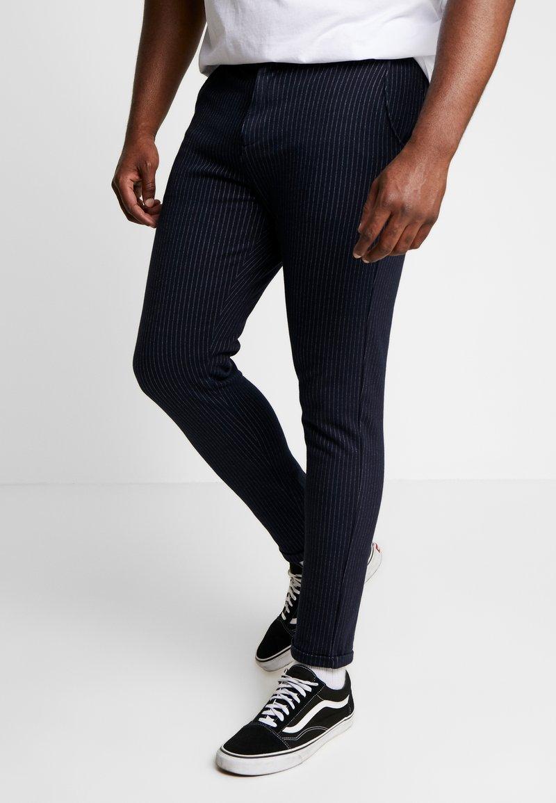 Jack´s Sportswear - PANTS ELASTIC WAIST - Chinos - navy mix