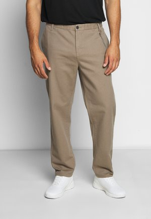 CROPPED LOOSE FIT PANTS - Chino - sand