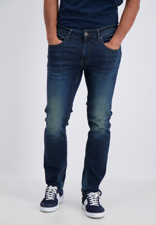 Jeans straight leg - smooth blue