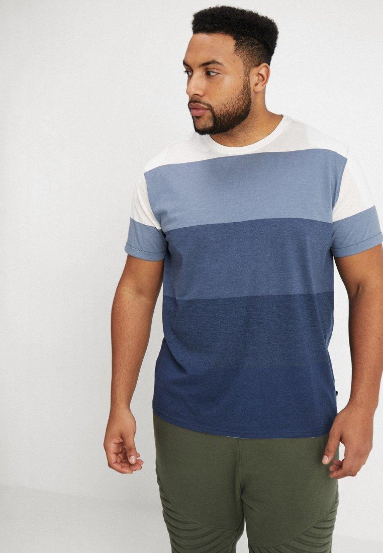 Jack´s Sportswear - STRIPED TEE - Print T-shirt - navy