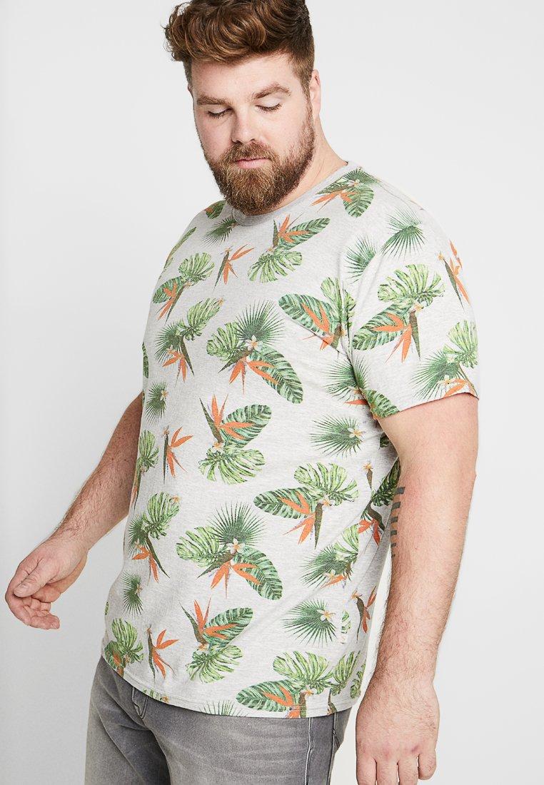 Jack´s Sportswear - FLORAL TEE  - T-shirt print - light grey melange