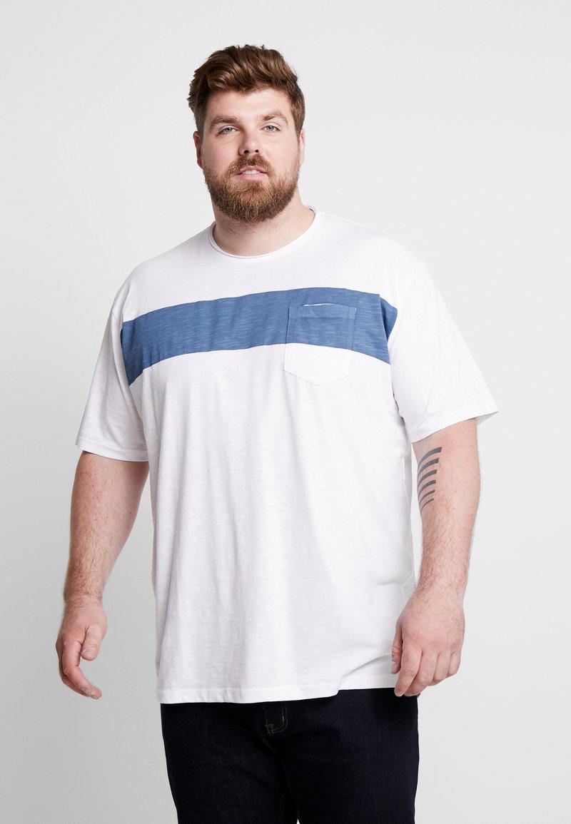 Jack´s Sportswear - STRIPE TEE - T-shirt imprimé - white