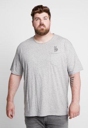 HAND EMBROIDERY TEE - T-shirt print - grey