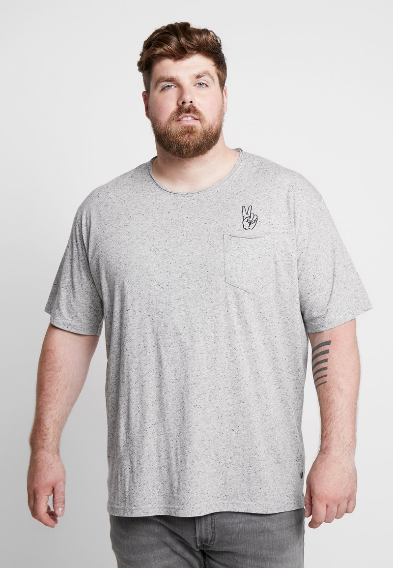 Jack´s Sportswear - HAND EMBROIDERY TEE - Print T-shirt - grey