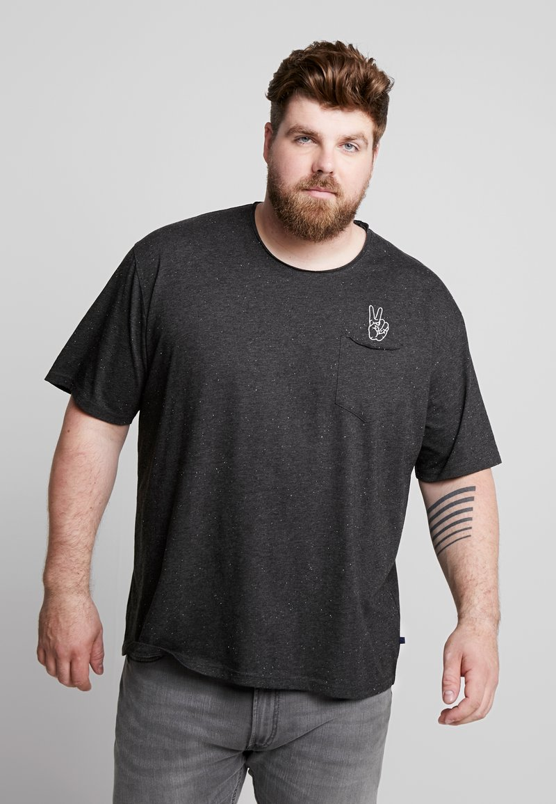 Jack´s Sportswear - HAND EMBROIDERY TEE - Print T-shirt - black mix