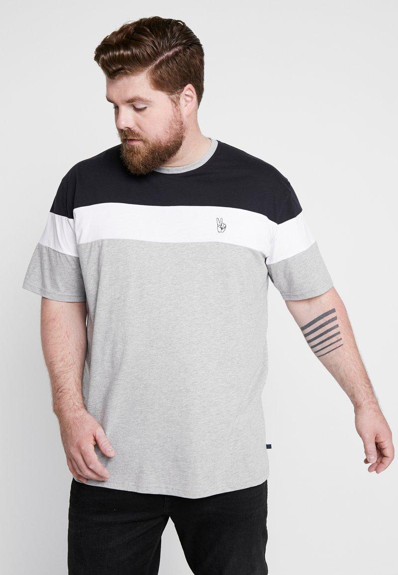 Jack´s Sportswear - PANEL TEE - T-shirt con stampa - grey melange