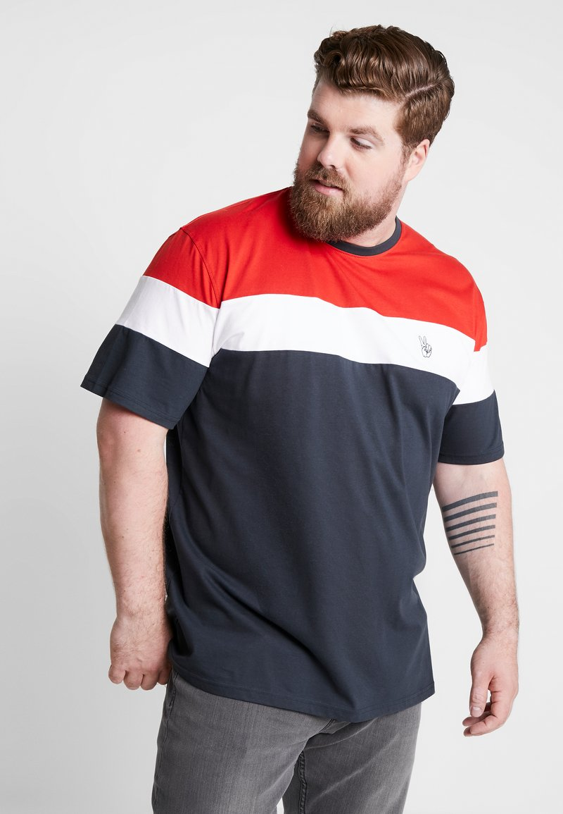 Jack´s Sportswear - PANEL TEE - T-shirt con stampa - navy