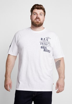 SLUB YARN O-NECK - T-shirt print - white