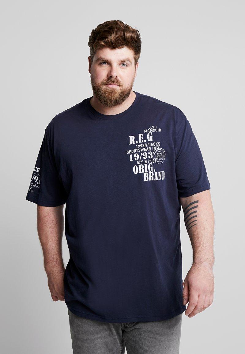 Jack´s Sportswear - SLUB YARN O-NECK - T-Shirt print - navy