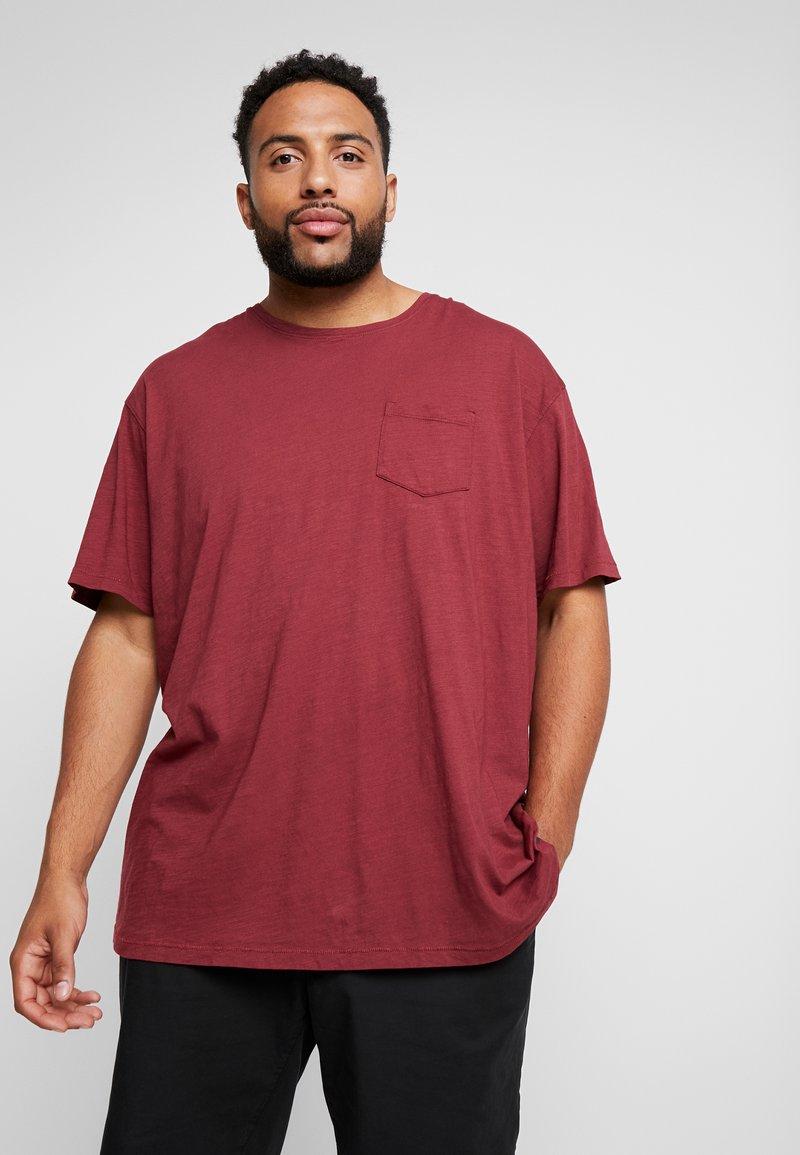 Jack´s Sportswear - GARMENT DYED SLUB TEE - T-Shirt basic - bordeaux