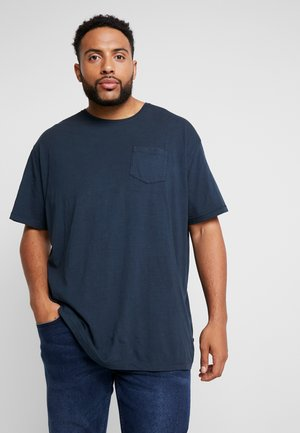 GARMENT DYED SLUB TEE - Basic T-shirt - navy