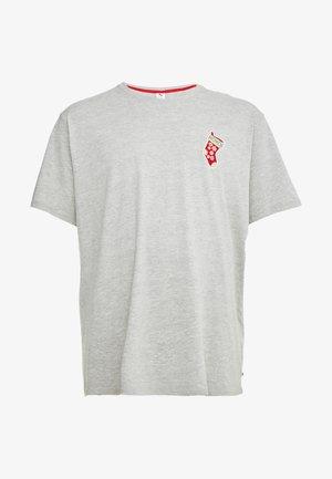 CHRISTMAS APPLICATION TEE  - Print T-shirt - grey melange