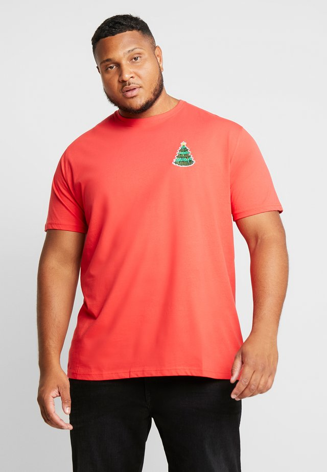 CHRISTMAS APPLICATION TEE  - T-shirt z nadrukiem - red