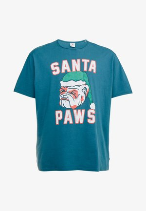 SANTA TEE - T-Shirt print - petrol blue